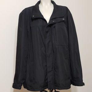 Calvin Klein black water resistant coat,  XXL